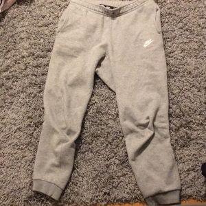 small grey nike sweatpants (men's)